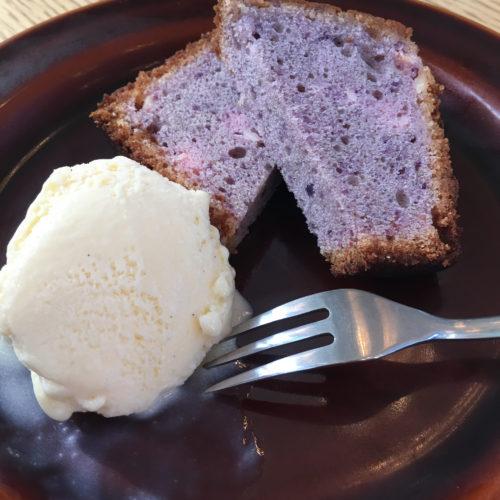 紫芋とクリームチーズのパウンドケーキ